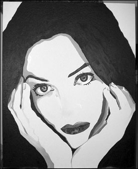 Painting of Kate Winslet