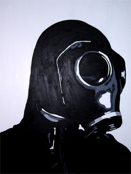 Painting of Gas Mask